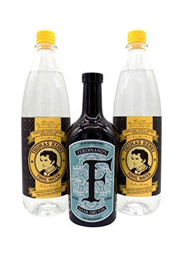 Ferdinand's Gin 1x 0,5L (44% Vol.) & 2x Thomas Henry Tonic Water 1,0L PET | Gin & Tonic Set