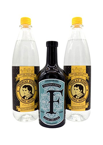 Ferdinand's Gin 1x 0,5L (44% Vol.) & 2x Thomas Henry Tonic Water 1,0L PET | Gin & Tonic Set