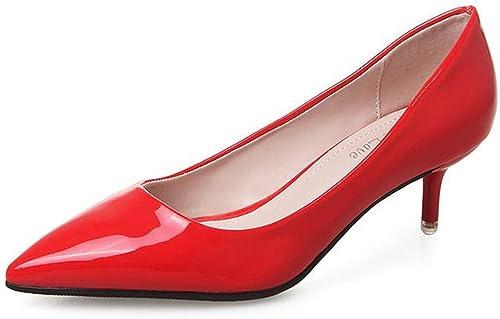 YTTY La Peinture Rouge avec De Fines De Présentoir De Chaussures,Rouge,35