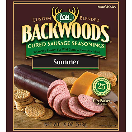 LEM Backwoods Cured Sausage Seasoning with Cure Packet, Summer Sausage