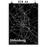 Mr. & Mrs. Panda Poster DIN A4 Stadt Oldenburg Stadt Black
