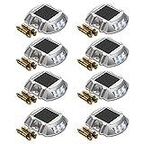 Outdoor Solar Dock Lights 8-Pack SUPERDANNY Solar Powered...
