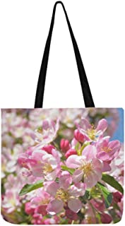 efebf5d962 Belle fleur rose au printemps toile sac fourre-tout sac à bandoulière sac à  bandoulière