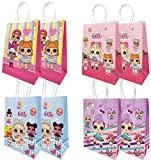 MJMEISIYU 16 Packs LOL Party Gift Bags, LOL Gift Bags Party Supplies for Kids LOL Themed Party, Birthday Decoration Gift Bags Well for Girls or Boys