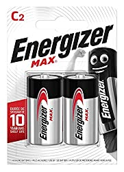 2-pack of Energizer MAX Alkaline C batteries Made to last; not to leak Non-stop energy for your non-stop family's must-have devices - think toys, portable radios, torches and more Holds power up to 10 years in storage - so you're never left powerless...