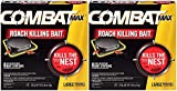Combat Max Roach Killing Bait for Large Roaches, 8 Bait Stations (Pack of 2)