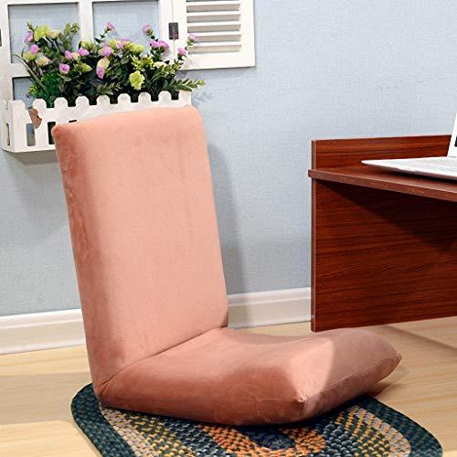 Pliant paresseux canapé chaise jardin tissu coussin multi-fonction ordinateur canapé arrière, 40x46x38CM (Couleur : Orange)
