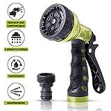 VIVIK Garden Hose Nozzle,Hose Spray Nozzle,Water Hose Nozzle with 9 Adjustable...