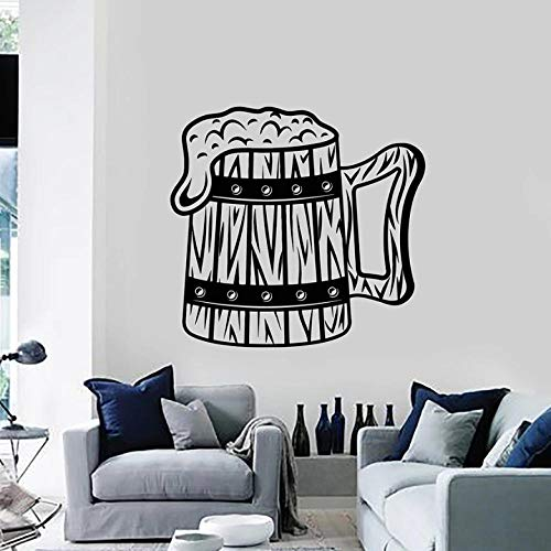 Muurstickers Decal Mok Hop Muursticker Bier Schuim Pub Alcohol Beerhouse interieur Art Stickers muurschildering Vinyl Window Decor Man Cave Keuken Stickers