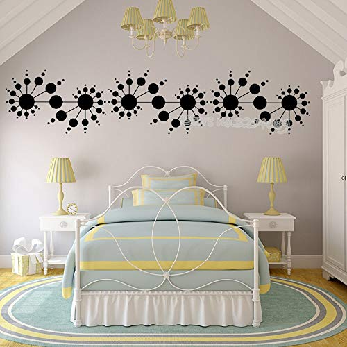 BailongXiao Decal verrückte Spirale gemacht dot Aufkleber Wohnkultur Wohnzimmer Schlafzimmer Fenster Kopfteil Wandbild 30X137cm