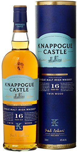Knappogue Castle 16 Years Old Single Malt Twinwood Sherry Finish mit Geschenkverpackung Whisky  (1 x 0.7 l)