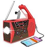 KITPIPI Emergency Solar Hand Crank Radio 2021 Upgraded NOAA/AM/FM Portable Weather Radio with LED Flashlight Reading Lamp 2000mAh Power Bank and SOS Alarm for Emergency Situations