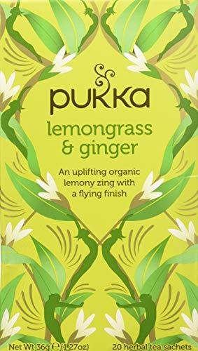Pukka Tè con Lemongrass e Ginger, 20 Filtri, 36g