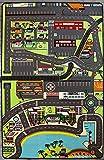 TAPITOM Grande Tappeto per Bambini con Strade della Città - Tappeto per Bambino - Circuito di Auto in Città 130 x 200 cm