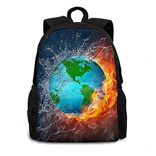 Earth in Fire and Water - Mochila de hombro para portátil de 17 pulgadas (17 pulgadas)