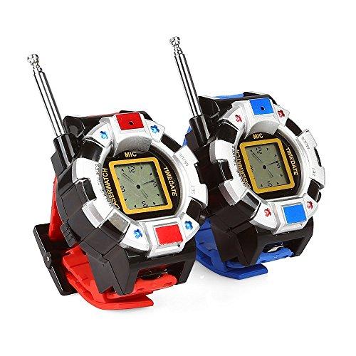 TWO WAYラジオ ウォッチ型 子供用トランシーバー 腕時計としても使える おもちゃ 007などの遊びに最適 ...