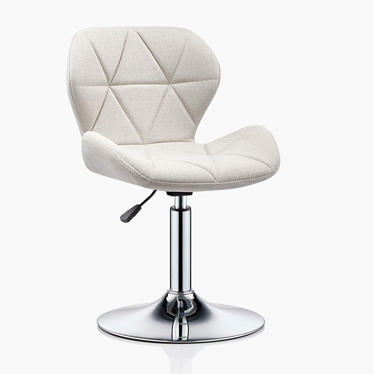 LJHA Swivel Chair - Bar Chair Can Be Raised and Lowered (60-115cm) Cotton and Linen High Footstool Leisure Chair (color   bluee)