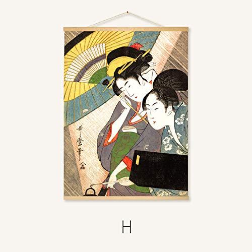 mmzki Hängende Malerei Japanisches Restaurant Wandmalerei-Rollenmalerei 22-H 50 * 40