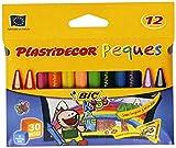 BIC Plastidecor Peques, Estuche Con 12 Ceras, Tamaño Único, Multicolor