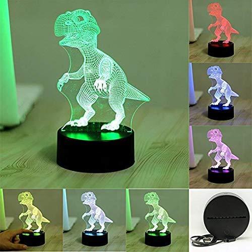 AI LI witte nachtlampje, kleurrijk, LED-nachtlampje voor USB, kinderen, met touchscreen, nachtlampje voor baby's, nachtlampje (Dino)