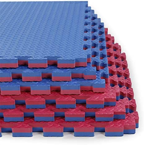 Xspec 1 Extra Thick 48 sq ft Reversible EVA Gym Foam Floor Mat Tiles 24 x 24 1 Year Limited product image