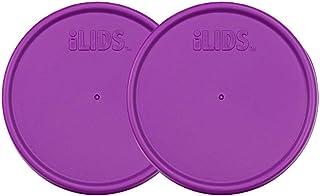 iLIDS Mason Jar Storage Lid, Wide Mouth, Mulberry, Pack of 2