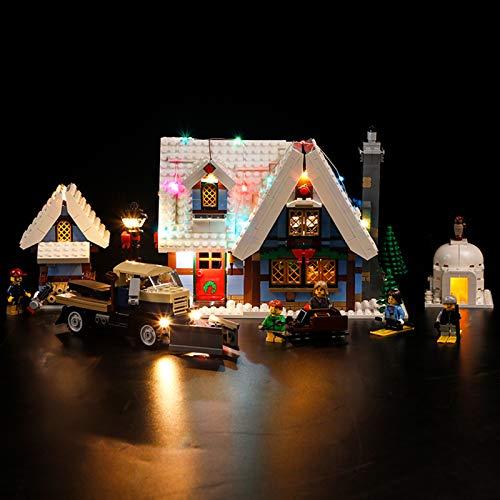 Nlne Kit De Iluminación Led para Lego Cabaña De Invierno - Compatible con Ladrillos De Construcción Lego Modelo 10229 (NO Incluido En El Modelo)