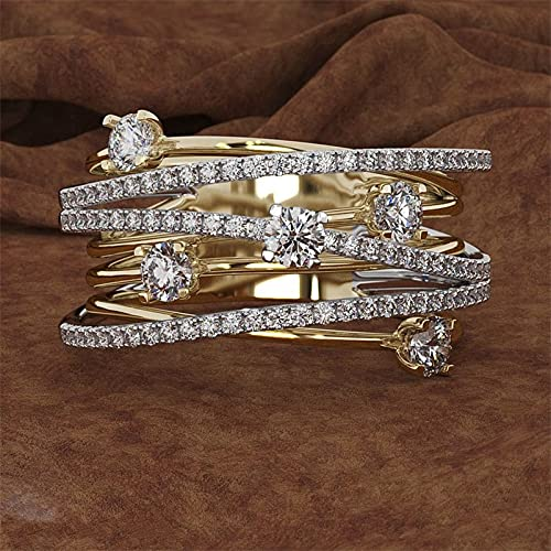 JIUXIAO Anillo de Diamante de Laboratorio de 3 Colores para MujerAnillos de Diamante de Laboratorio deCompromiso de joyería de Plata dePiedras Preciosas925