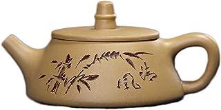 Teapot Teapot Ore Stone Scoop Pot Wide Mouth Pot Segment Yixing Clay Teapot Tea Maker Sand Pot TongLingUSL (Color : Yellow)