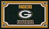 Team Sports America NFL Green Bay Packers Embossed Outdoor-Safe Mat - 30' W x 18' H Durable Non Slip Floormat for Football Fans