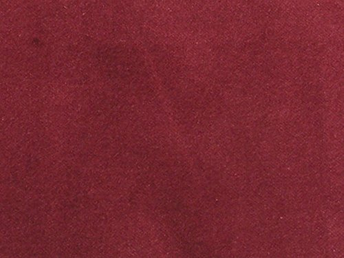 SyFabrics 100% Cotton Velvet Fabric 56 inches Wide Burgundy