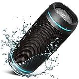 TREBLAB HD77 - Ultra Premium Bluetooth Speaker - Loud 360° HD Surround Sound, Wireless Dual Pairing, 25W Stereo, Loud Bass, 20H Battery, IPX6 Waterproof, Sports Outdoor, Portable Blue Tooth