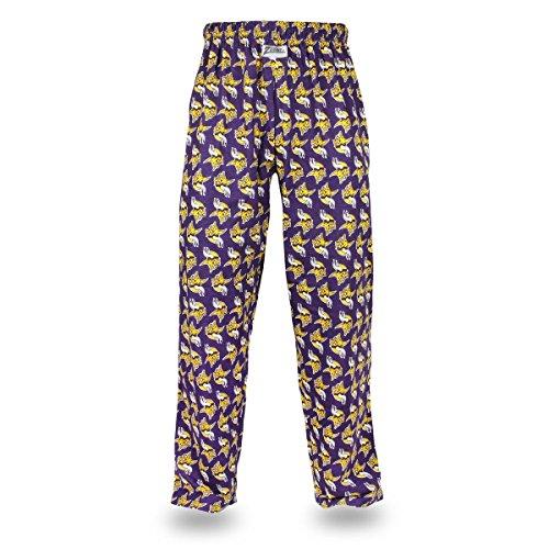 Zubaz NFL Minnesota Vikings Men's Team Logo Print Comfy Jersey Pants, Medium, Purple