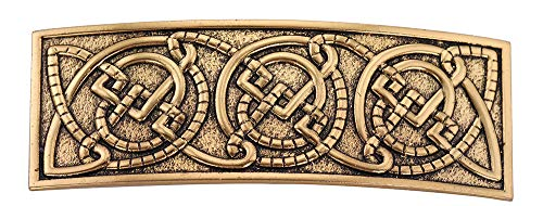 LIKGREAT Celtic Irish Knotwork Metal Hair Clips Barrettes for Women Viking Ethnic Jewelry (Style 1(Gold))