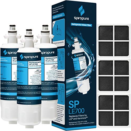 SpiroPure Replacement for LT700P & LT120F, 9690, ADQ36006101, PF01, 46-9690, R-9690, PL-500, RFC-1200A, ADQ36006102, SGF-LA07, LT700PC, FML-3, RWF1052, WSL-3, 795, PL500, WLF-01 (6 Pack; 3/ea.)