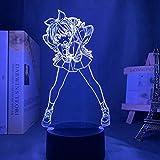 SCNYCUL 3D LED lámpara mesa luz nocturna Novia de alquiler regaña anime16 colors niño regalo de fiesta de Navidad decoración hogar
