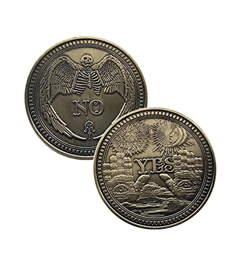 ZKPNV Medalla De Ángel O Diablo Sí/No Insignia Calavera Decisión Moneda Edición Conmemorativa Chapada En Cobre
