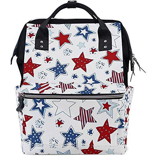 Backpack American Star Diaper Backpack Grande Capacité 28X18X40Cm Multi-Function Maman Bébé Sacs Zipper Casual Sacs À Dos Voyage Papa Unisexe
