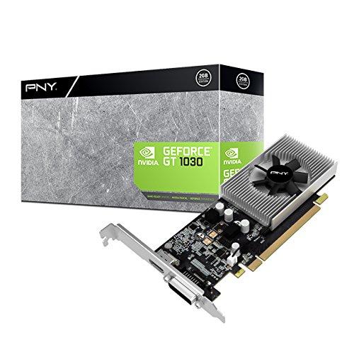PNY VCGGT10302PB GeForce GT 1030 2GB GDDR5 Grafikkarte - Grafikkarten (GeForce GT 1030, 2 GB, GDDR5, 64 Bit, 4096 x 2160 Pixel, PCI Express x16 3.0)