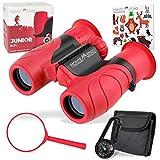 Monte Stivo® Junior prismaticos niños | Binoculares 8x21 en Juego con Lupa y brujula | como Regalo de Juguete para niño niña a Partir de 4 años