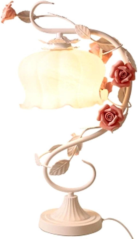 Eisen Tischlampe warmen romantischen Rosangarten pastoralen pastoralen pastoralen Prinzessin Schlafzimmer Nachttisch Brautjungfer Hochzeitsgeschenk warmes Licht (Farbe   Weiß) B07H1VZRJ5     | Bestellungen Sind Willkommen  b4edeb