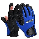 Goture 2/3 Freie Fingern Anglerhandschuhe Handschuhe Angeln,Sport, Outdoor,Radfahren,Reiten...