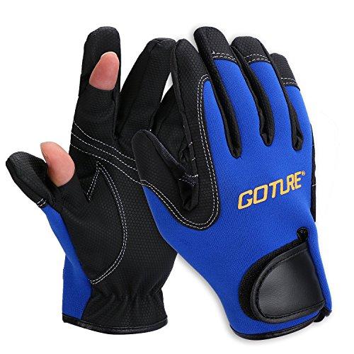 Goture 2/3 Freie Fingern Anglerhandschuhe Handschuhe Angeln,Sport, Outdoor,Radfahren,Reiten rutschfest