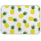 RELEESSS - Alfombrilla de microfibra para secado de platos (40 x 45 cm), diseño de piña y frutas