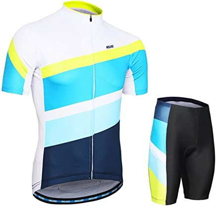 QIXFU Cycling jersey male Female Sun predection Breathable Quick Dry Short sleeve shorts Set Shorts Kit Outdoor Clothes