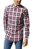 Walbusch Herren Hemd 10 Taschen Safarihemd kariert Karo Beere 38 - Langarm