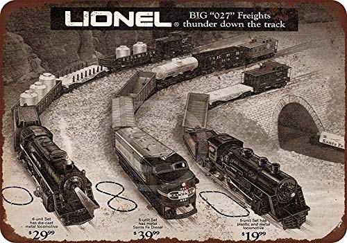 "Vintage Retro Metal Sign,12""X8""inch,1971 Lionel Electric Trains - Vintage Man Cave Garage SignBar SignMetal Wall Tin Sign Wall ArtSymbol Pointer Decal Metal Signs -  JIYUANDSY, jiyultp20021801-1662"