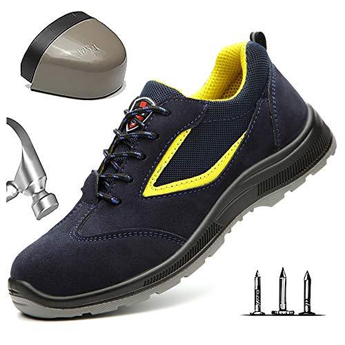 Lichtgewicht werkschoenen heren ademende comfortabele veiligheidsschoenen met stalen neus beschermende schoenen sportief Punction Proof anti-smashing comfortabele wandelschoenen