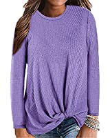UHAPY Women's Knit Tank Tops Cute Twist Knot Waffle Knit Shirts Tunic Tops Sweater