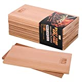 LAOYE 10 Incienso Tablas de Cedro para Barbacoa/ Tablones (30 x 14 x 1 cm) Tabla para barbacoas, parrilla/Barbacoa suelo de 100% originalem Madera de Cedro, Fein Canadienses Pulido, superficie lisa
